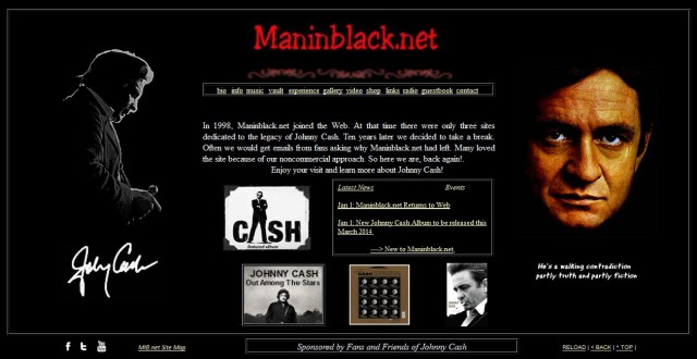 Man In Black website returns January 1st, 2014